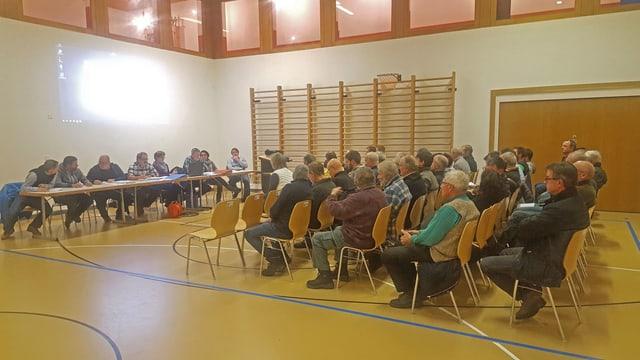 La radunanza communala da Valsot en la sala polivalenta a Ramosch