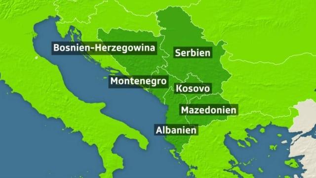 Grenzzäune quer über den Westbalkan