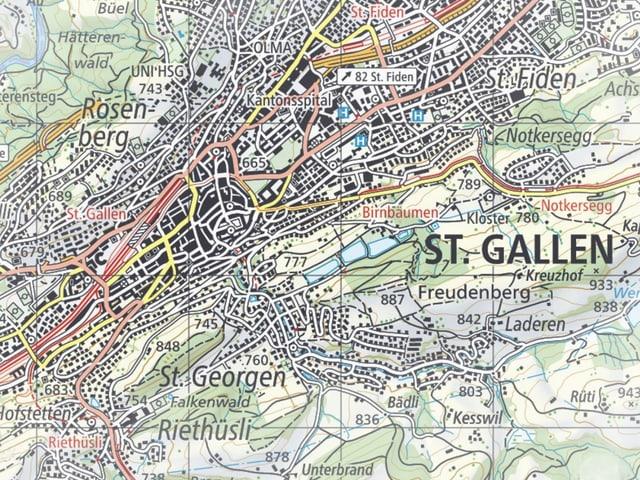 Karte von St.Gallen