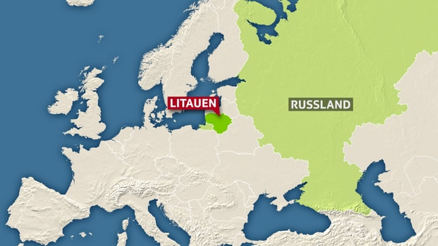 Europakarte mit Litauen