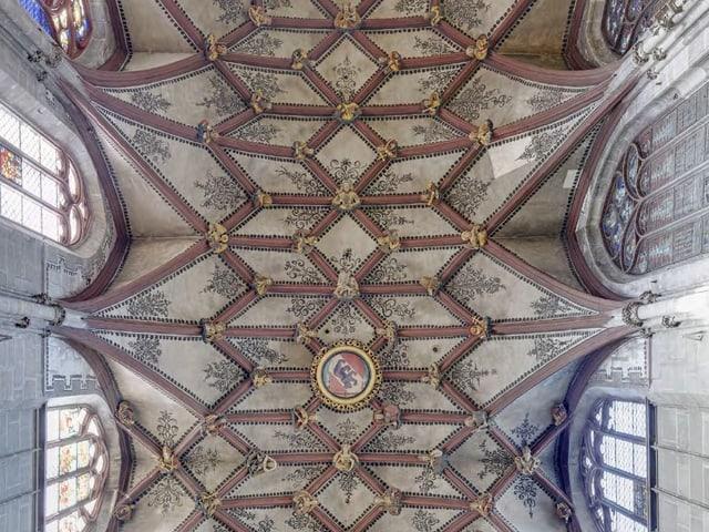 Blick ins Gewölbe des Münsters.
