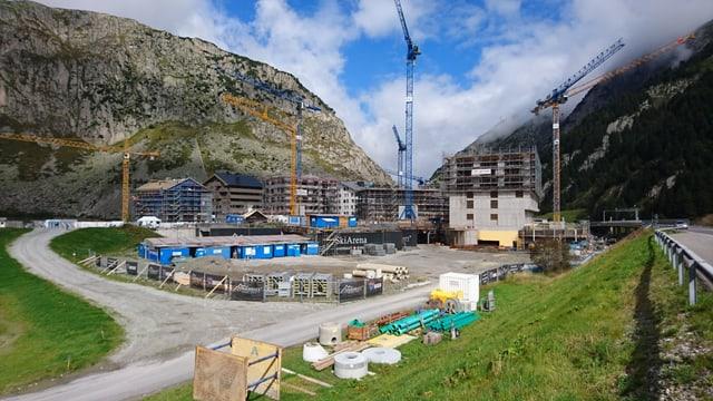 Il plazzal actual da la Andermatt Swiss Alps.