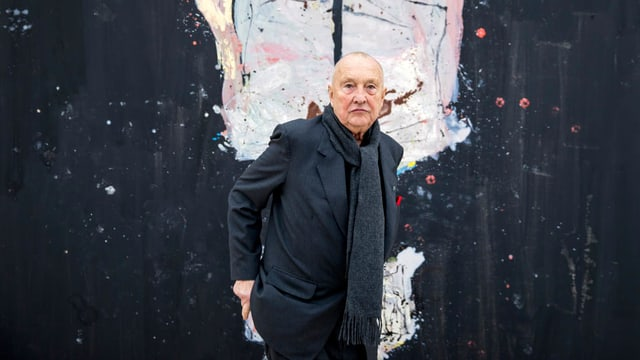 Georg Baselitz vor einem Bild