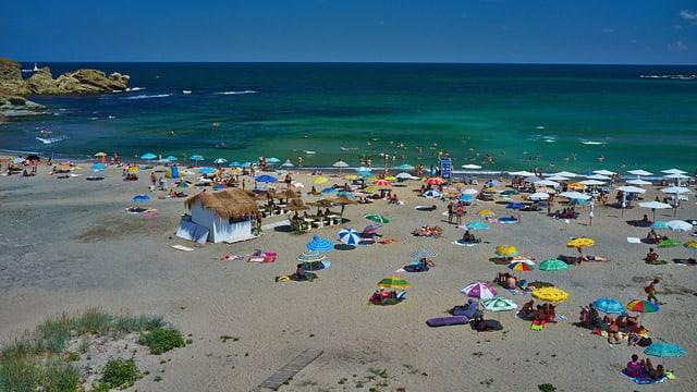 Ein Strand in Bulgarien.
