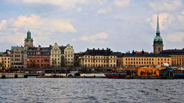 Blick auf den Kern von Stockholm.