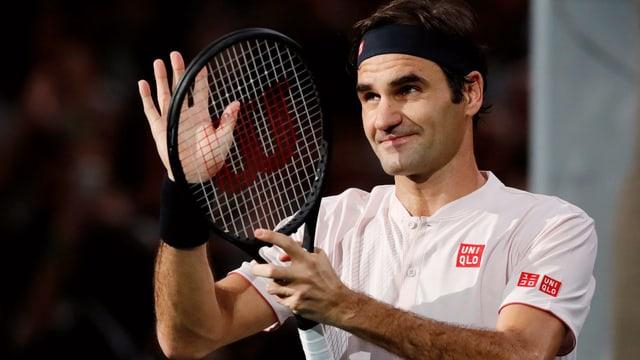 Roger Federer während eines Spiels