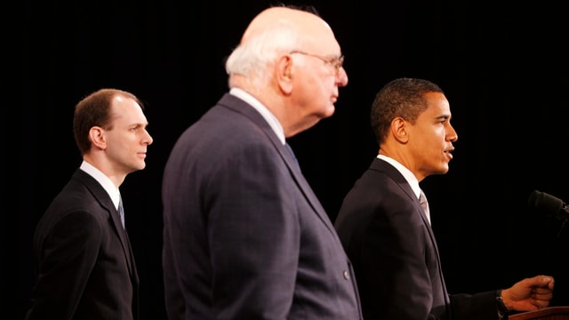 Volcker mit Obama