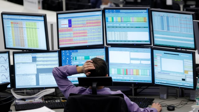 Börsenhändler.
