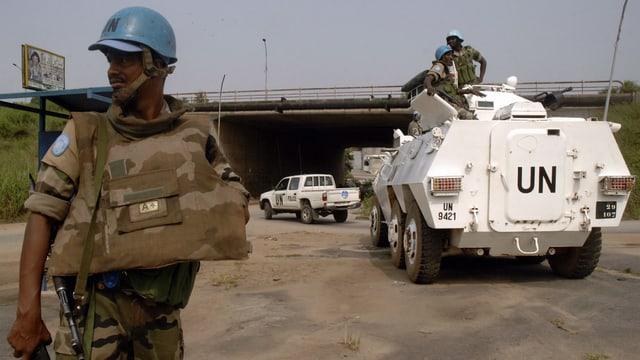 Blauhelm-Soldaten im Einsatz.