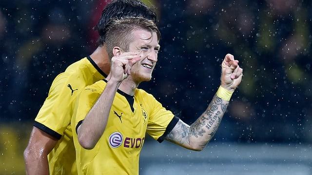 Dreifacher Torschütze beim Dortmunder Offensivspektakel gegen Odds BK.