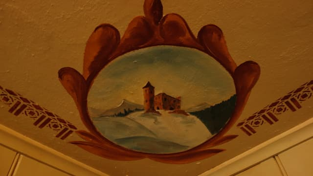 Quest plafond è anc original.