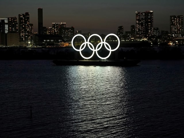 Olympische Ringe in Japan