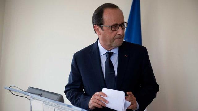 Französischer Präsident Hollande