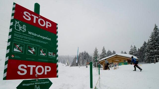 Schild für Wildschutzzone.