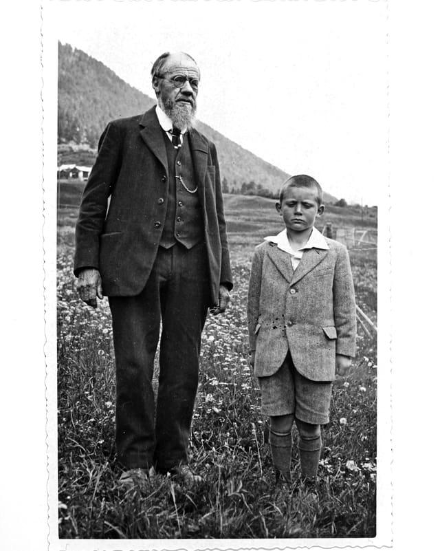 Otto Guidon cun ses biadi Jon.