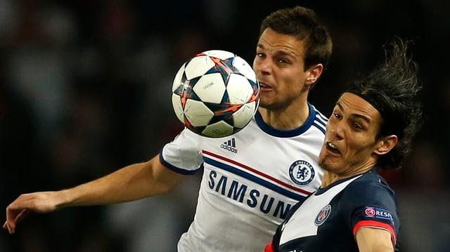 Chelsea (mit Azpilicueta) und PSG (mit Cavani) treffen in der CL-K.o.-Phase erneut aufeinander.