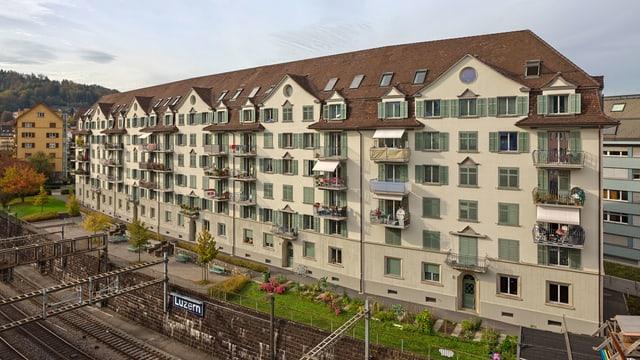 Sozialer Wohnungsbau: Häuserblock aus den 20er Jahren.