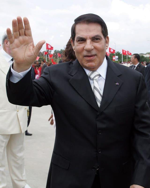 Der ehemalige tunesische Diktator Ben Ali.