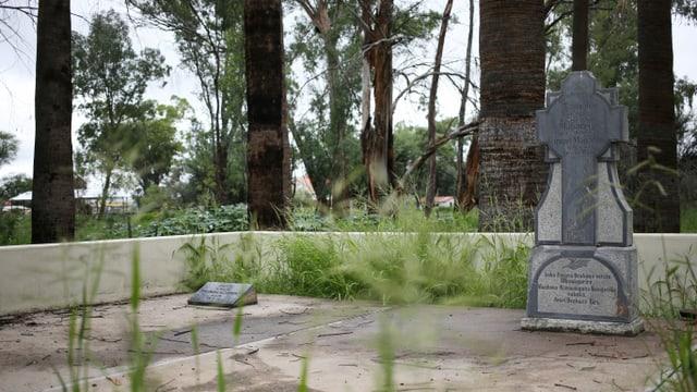 Das Grab von Samuel Maherero, die die Herero im Kampf gegen die deutsche Kolonialarmee anführte.