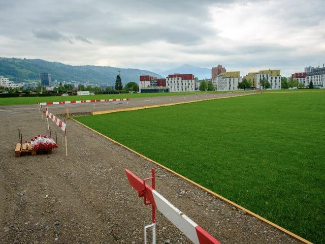Il plazzal da l'arena da la Festa federala da lutga e da gieus alpesters a Zug.