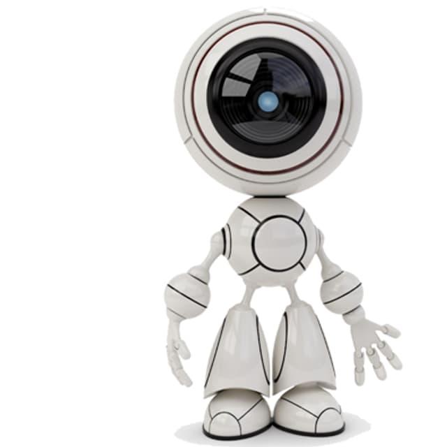 Roboter-Männchen.