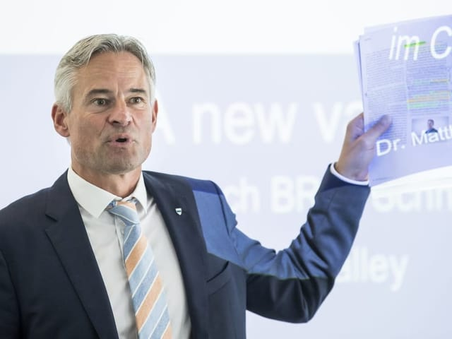 Der Zuger Ständeratskandidat Matthias Michel.