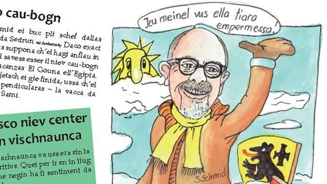 Ina da las numerusas caricaturas da la Sibla 2019.
