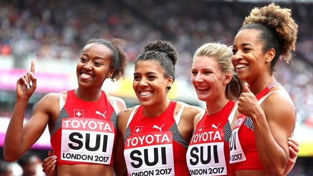 Sarah Atcho, Mujinga Kambundji, Ajla Del Ponte, Salomé Kora
