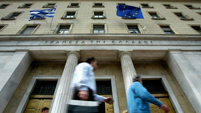 La banca centrala da la Grezia.