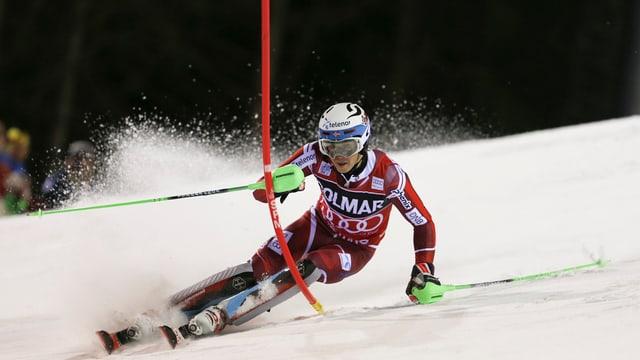 Il Norvegiais Henrik Kristoffersen gudogna il slalom a Madonna di Campiglio.