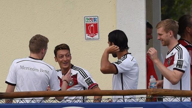 Deutsche Nationalspieler am Freitag im Teamhotel.
