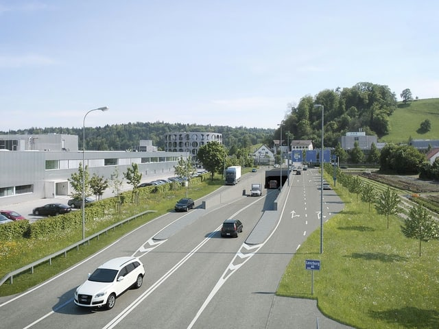 Visualisierung einer Tunneleinfahrt
