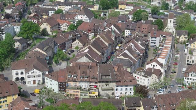 Stadt Lenzburg von oben