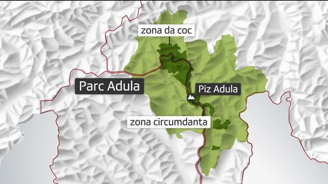 Zona da coc e zona circumdanta dal Parc Adula.