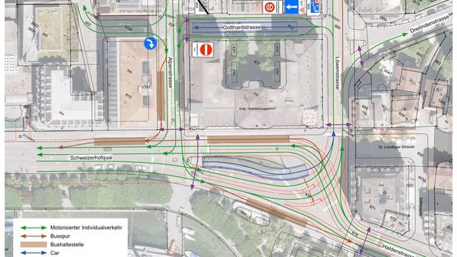 Plan des Parkhauses.