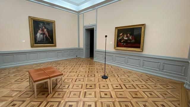 La filmada da la tura virtuala en il Museum d'art dal Grischun a Cuira.