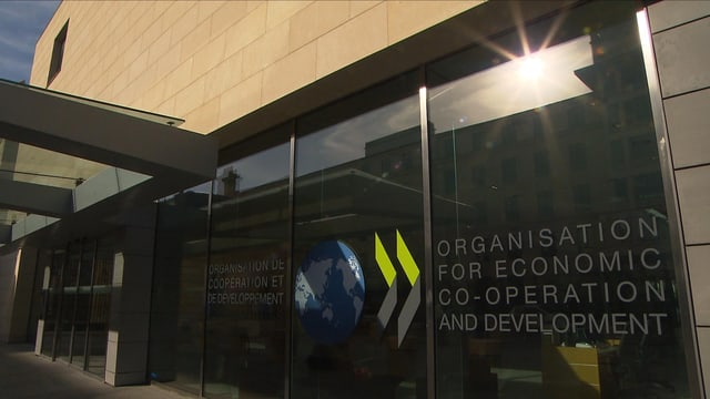 Eingang der OECD in Paris.