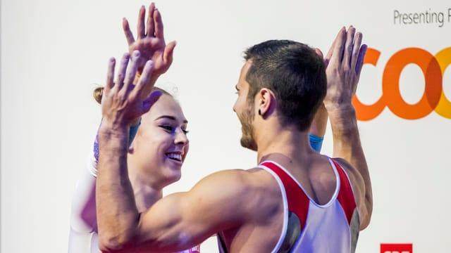 Giulia Steingruber e Pablo Brägger.