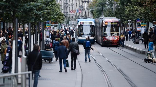 Bahnhofstrasse Tram, Passagiere