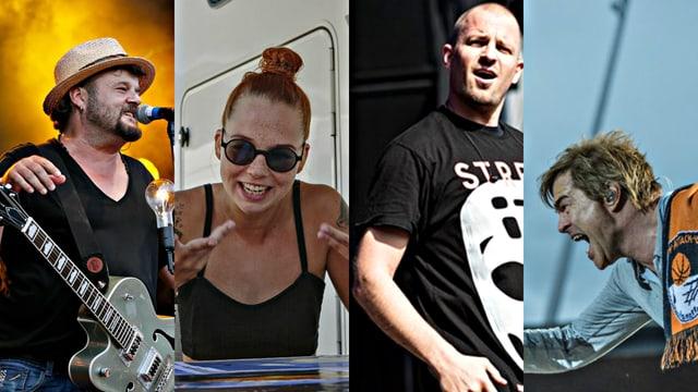 Büne Huber, Stefanie Heinzmann, Stress, Campino