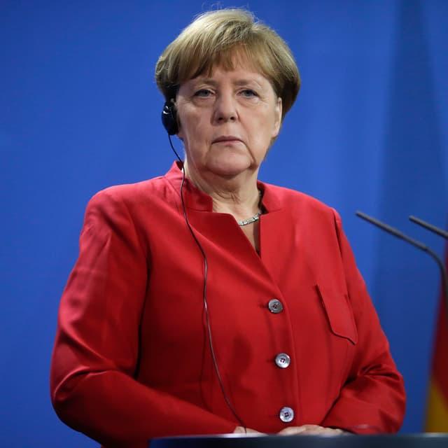 Portraitbild von Angela Merkel.