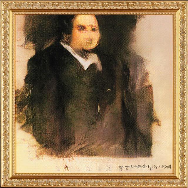 Undeutliches Porträtgemälde eines Mannes