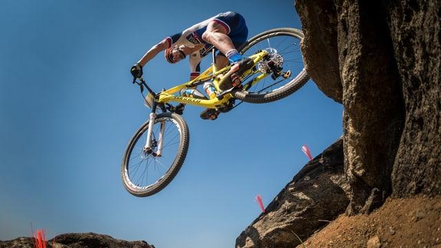 Peter Sagan während dem Training auf dem Mountainbike.
