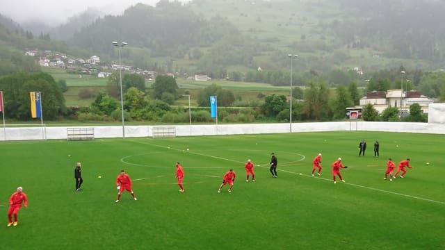 Il team austriac durant in trenament.
