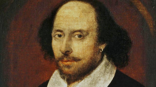 William Shakespeare in Öl.