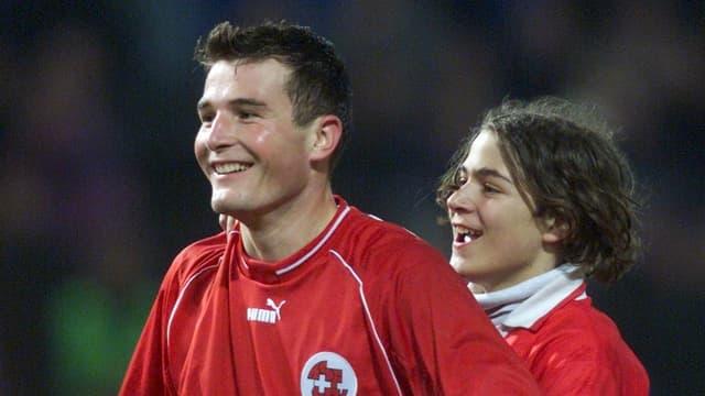 28. 3. 2001: Frei erzielt beim 5:0 über Luxemburg einen Hattrick.