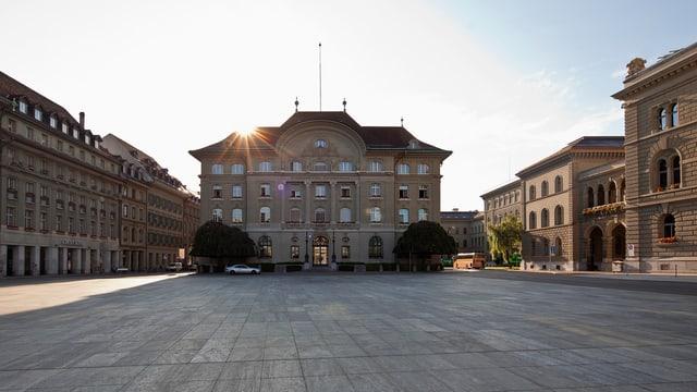 La Banca naziunala svizra sin la Plazza federala a Berna.
