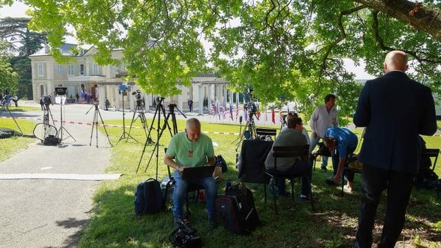Journalisten in Genf.