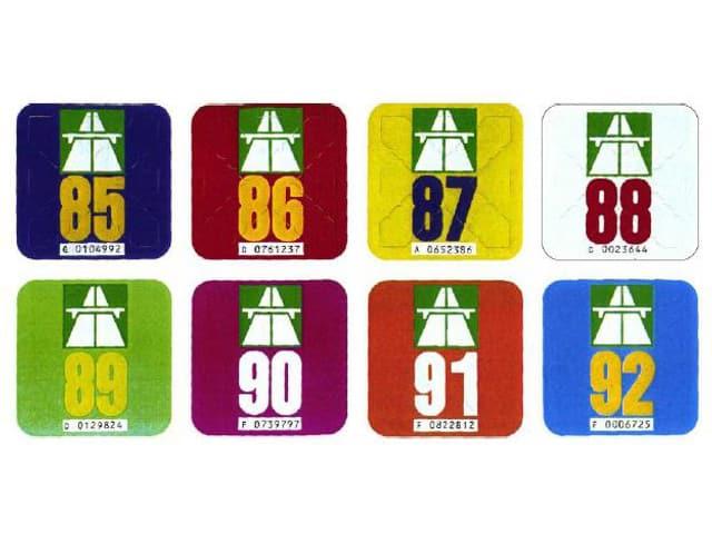 8 Autobahn-Vignetten