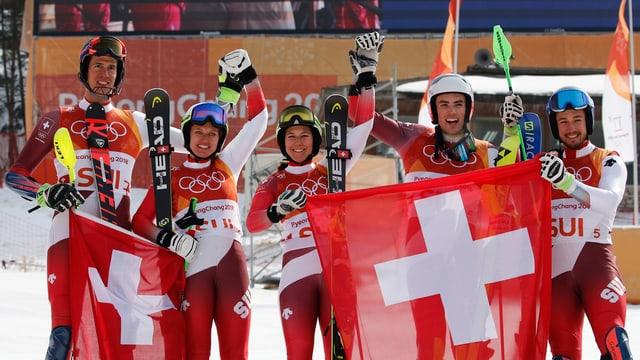 Team svizzer.